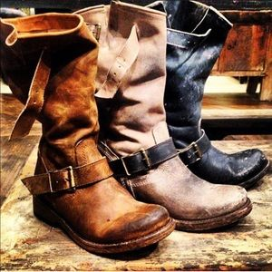 FREEBIRD| Crosby Distressed Leather Boots